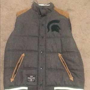 Michigan State Men's Vest